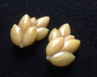 Vintage 1950s Celluloid Clip-On Earrings