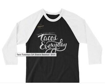 Taco Tuesdays Baseball T-Shirt