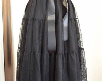 Black lace tutu skirt size M/L