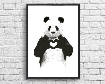 Art-Poster 50 x 70 cm - Panda in love