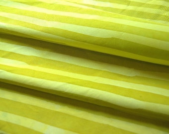 Two stripes hand dyed and patterned cotton fabric