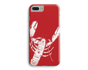 Red Lobster Phone Case, sea lover gift iphone case 3D Phone Case iPhone 7 Plus iPhone 6 6S iPhone 5 5S Galaxy S7 Edge S6 Edge S5 Case _M