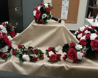 Wedding Bouquet package, silk flowers, bridal bouquet package, wedding flowers,