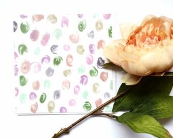 Blank Inside Spotty Card