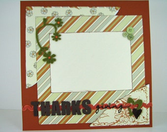 Thanksgiving Premade Scrapbook Page