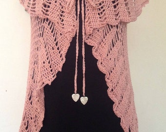 Pink Vest with charms