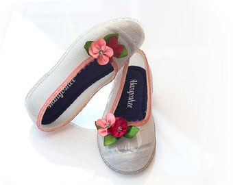 Summer Wedding Shoes, Womens Shoes, Beach Wedding, Wedding Shoes, Ballet Flats, Bridal Ribbon Shoes, Top Lace Shoes, Soft Slip On Shoes