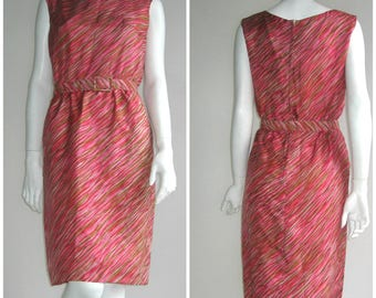 60s vtg dress madmen Fred Rothschild of California