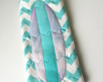 Coastal Eyeglass Case: Surfboard