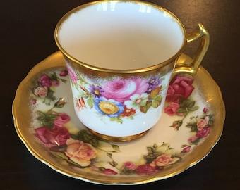 Royal Chelsea Golden Rose Teacup
