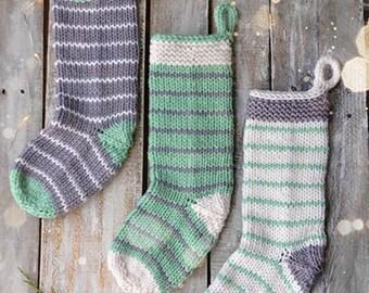 Stripe Christmas Stockings Knitting Kit 12 Days of Winter