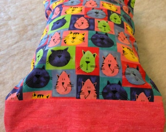 Pillowcase Travel Size Whimsical Cats