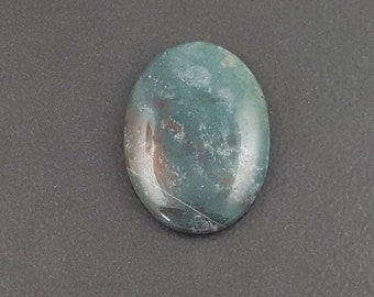 Green Jasper Cabochon, 22x30mm, large cab, large cabochon, large oval stone, large pendant stone, green jasper, green stone, jasper stone