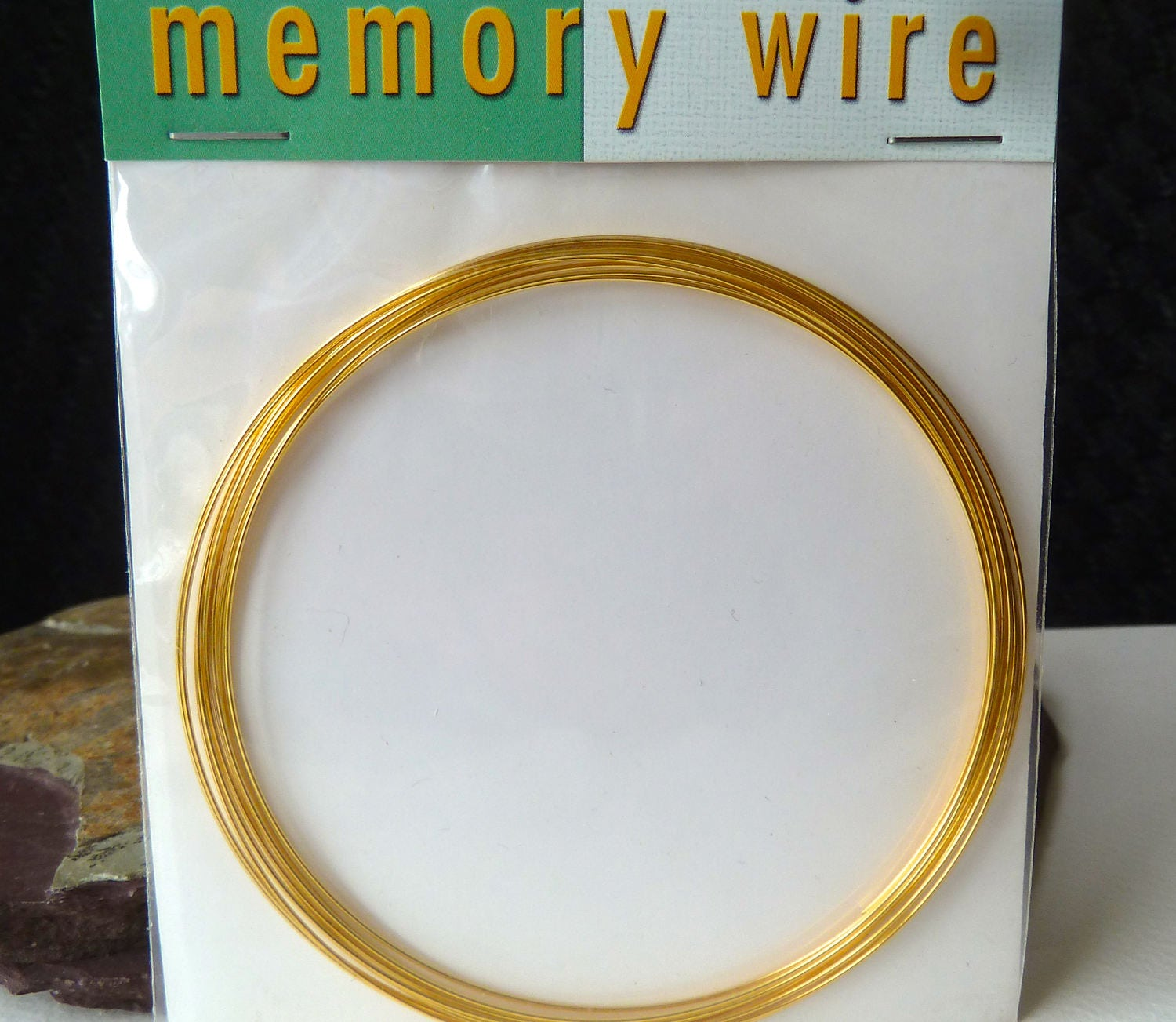 Necklace Memory Wire - Gold Plated Memory Wire - 3.6 Inch Diameter ...