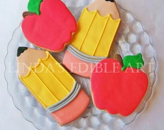 Back to School Cookies (1 Dozen)