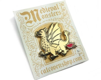 Medieval Monsters: Fire Dragon Pin