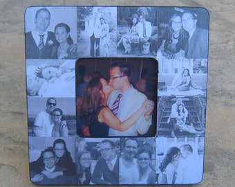 Engagement Collage Picture Frame, Custom Wedding Collage Frame, Unique Engagement Gift, Personalized Engagement Gift, Boyfriend Gift