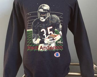 80s 90s Vintage Neal Anderson Chicago Bears nfl football Sweatshirt - XL X-LARGE