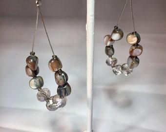 Gray Drop Earrings