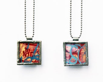 GRAFFITI PENDANT -  NYC - New York Graffiti