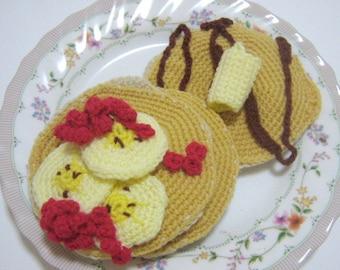 Crochet Food Pattern Pancake Crochet Pattern PDF Instant Download Hot Pancakes
