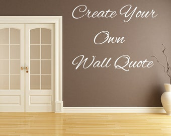Custom Wall Decal Etsy - Custom vinyl decals wall