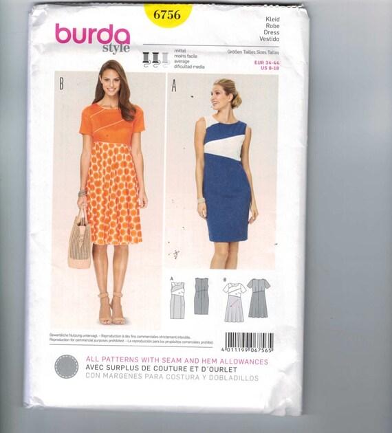 Verfehlt Nähen Schnittmuster Burda 6756 Colorblock Kleid