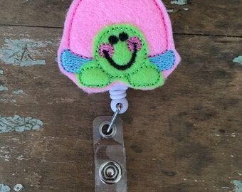 Turtle ID badge reel holder retractable clip