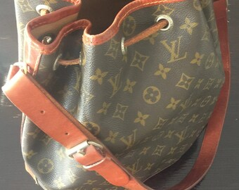 Louis Vuitton Noe large bucket bag pattern from the eighties
