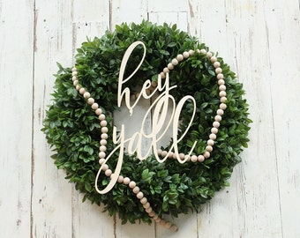 hey y'all sign gallery wall sign wreath making supplies