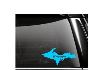 Yooper Car Decal Upper Peninsula of Michigan