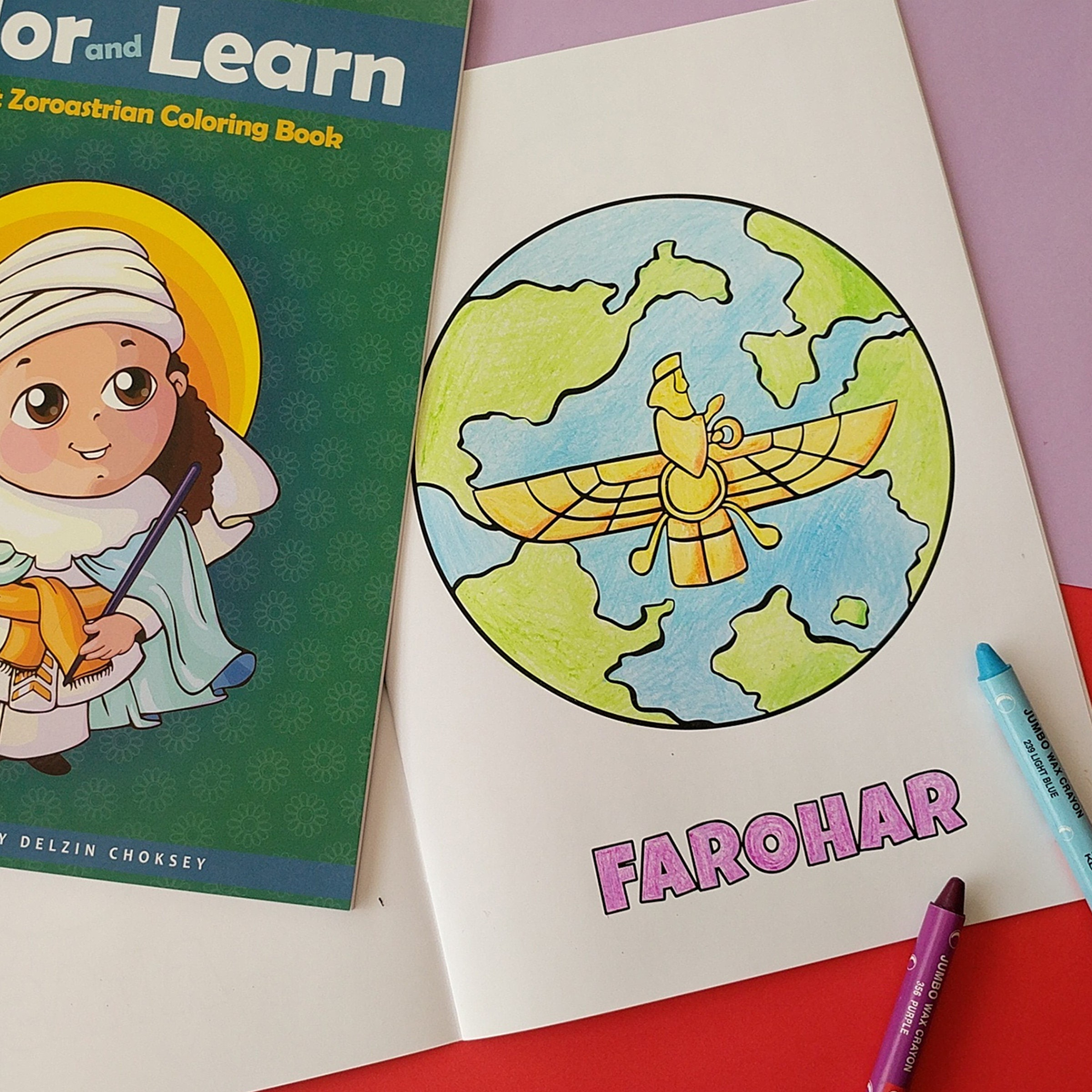 My First Zoroastrian coloring book Color and Learn Kids