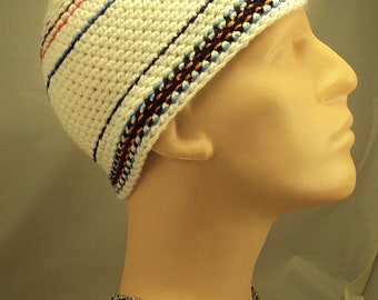 Nice Handmade Men's Skull Cap Hat sz M