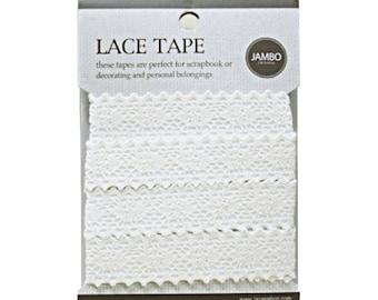 Adhesive deco fabric cotton lace tape M 04 - beige by J&Bobbin