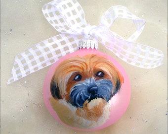Angebot für Juli reservieren ~ benutzerdefinierte handgemalt Haustier Ornament ~ Hund Ornament ~ Hund Papa Geschenk ~ individuelle Geschenk ~ Pet-Andenken