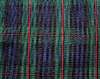 MURRAY ATHOLL TARTAN Navy Green Red Plaid Fabric Upholstery Slipcover Home Decorating Apparel