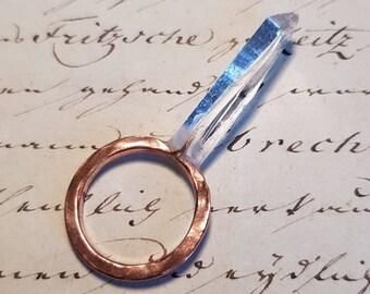 RECKONING Handmade Solid Copper And Quartz Shard Ring