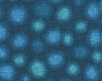 Robert Kaufman Quilter's Linen Dots in Teal; 1/2 yard cotton woven fabric