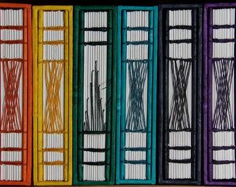 Rainbow Blank Page Handbound Journals with Slip Case