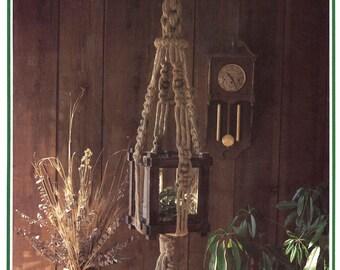 Macrame Hangers • 1970s Terrarium Globe Holder Knots • Learning Macramé • Instruction Pot Hangers • 70s Vintage Hanger Bead Hippie Boho