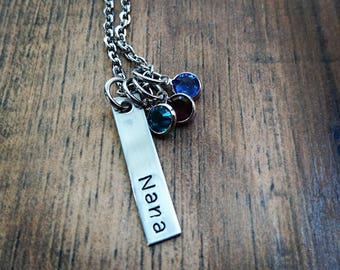 Hand Stamped Personalized  Nana Necklace - Mother Day Jewelry - Nana Gift - Mothers Day Gift - Grammy Gift - Grandma Gift - Nana Gift Idea