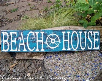 Handpainted Wooden Signs, Beach House, Coastal Living, Beach Signs, Nautical Decor, Unique Wood Signs, Coastal Decor, Rustic Signs