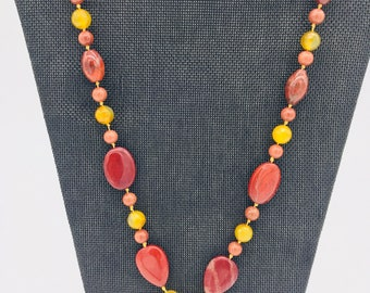 Red creek jasper necklace