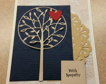 Handmade Sympathy Card. Bereavement. Grief. Loss of a Loved One.