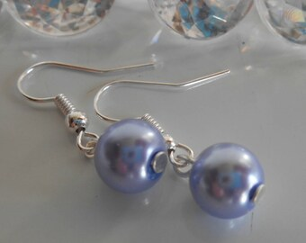 Wedding earrings Lavender beads
