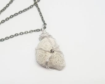Wire Wrapped Coral Necklace