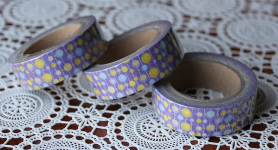 Scrapbook Supplies- 1 roll. Washi Tape. Polka Dots - Little Laser Lab
