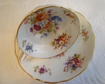 TEACUP. Vintage ENGLISH Bone China Teacup Set. Vintage Hammersley & Co. Vintage Bone China Collectible  Teacup Set.