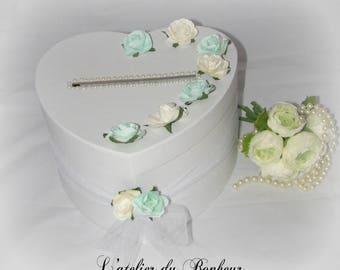 """Urna gris y rosado de la boda """"shabby chic"""" para retiro de aniversario de boda"""