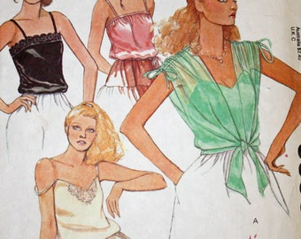 """Vintage,1970s, Sewing Pattern, McCall's 6395, 1970s Pattern, Misses', Set of Camisoles and Cover-Up, Size 6, Bust 30 1/2"""", OLD2NEWMEMORIES"""